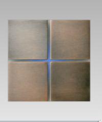 Placca quadrupla bronzo in metallo