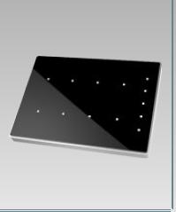 Tastiera multifunzione capacitiva, 8 + 5 tasti