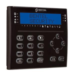 Tastiera LCD Nera, con lettore di prossimità ed espansione integrata
